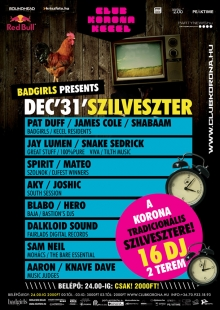 Badgirls presents Szilveszter flyer