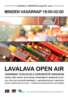 LavaLava Open Air flyer