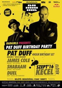 Pat Duff Birthday Party flyer