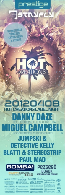 Hot Creations Label Night flyer