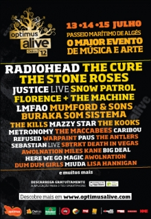 Optimus Alive 2012 flyer
