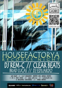 HouseFactorya Records Night flyer