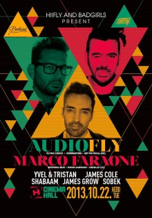 Cinema Hall & Hi!Fly & Badgirls pres.: Audiofly & Marco Faraone flyer